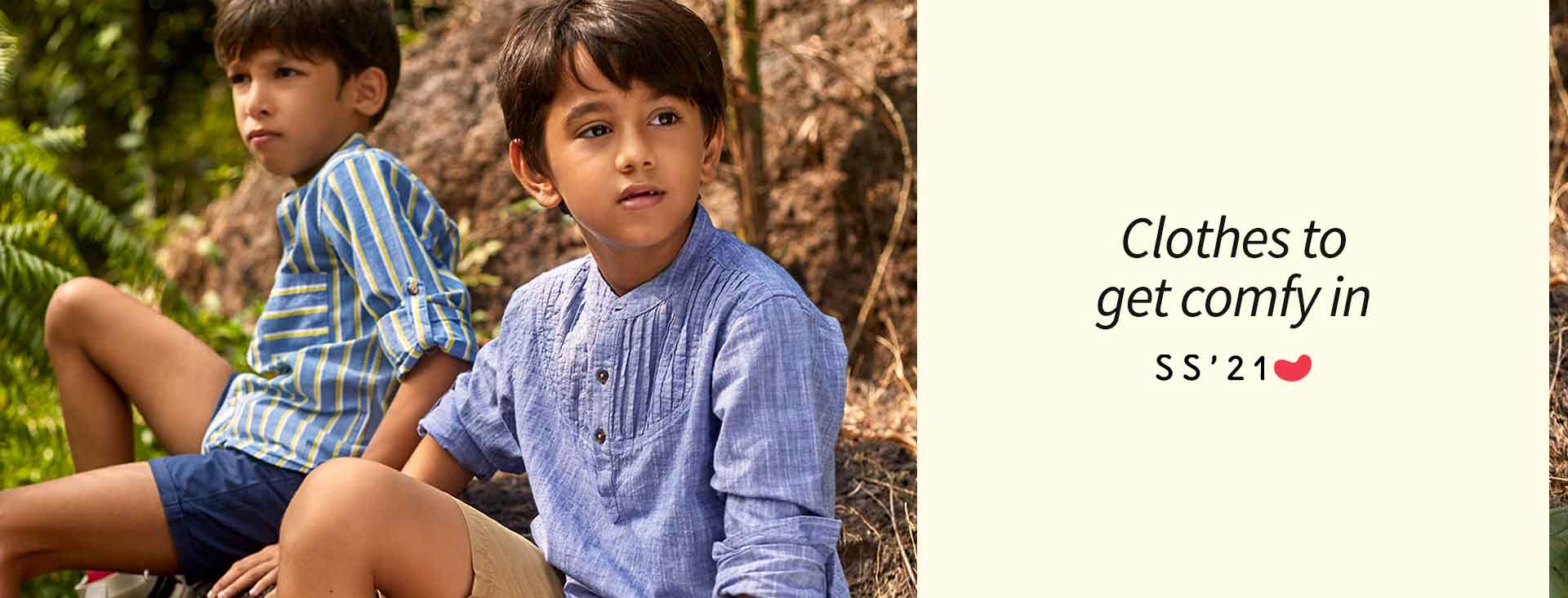Discover our range of easy to wash and wear jackets and sweatshirts. Super comfortable and trendy,  our collection ensures your little one looks good and feels great.